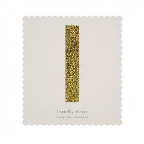 Letra Autocolante Glitter - I