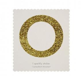 Letra Autocolante Glitter - O