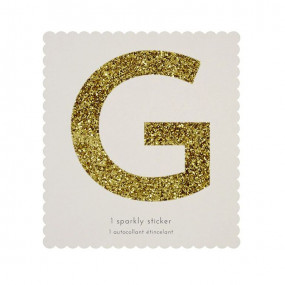 Letra Autocolante Glitter - G