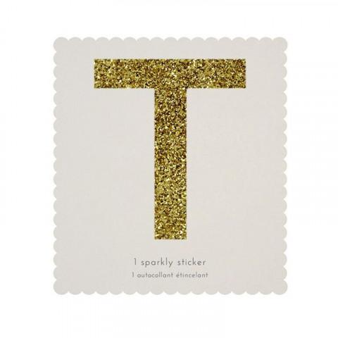 Letra Autocolante Glitter - T