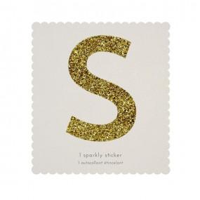 Letra Autocolante Glitter - S