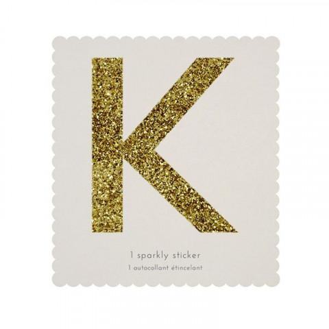 Letra Autocolante Glitter - K