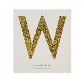Letra Autocolante Glitter - W