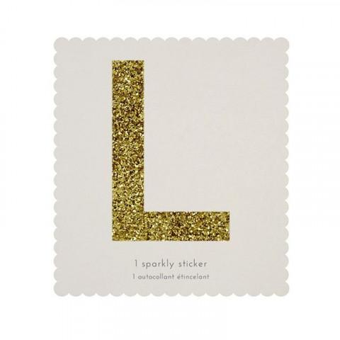 Letra Autocolante Glitter - L