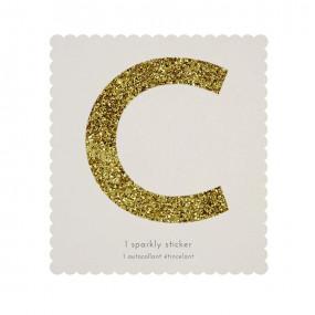 Letra Autocolante Glitter - C