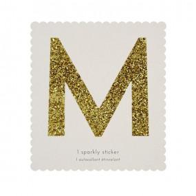 Letra Autocolante Glitter - M