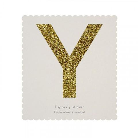 Letra Autocolante Glitter - Y