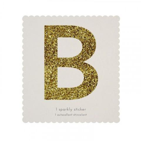 Letra Autocolante Glitter - B
