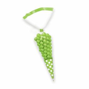 Sacos Cone Bolinhas Celofane Verde Alface