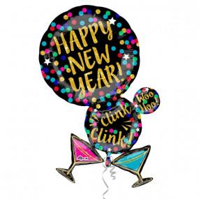Balão Happy New Year - 86cm