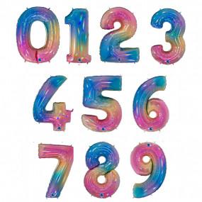 Balão Grande Número Rainbow