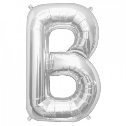 Balão B Prata 40cm
