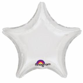 Balão Estrela Branca 50cm