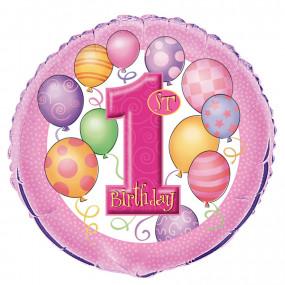 Balão 1º Aniv. Rosa