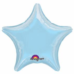 Balão Estrela Azul Claro 50cm