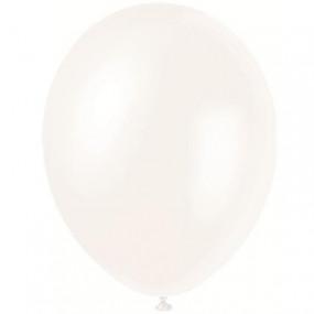 8 Balões Branco Pérola