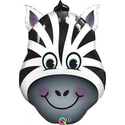 Balão cabeça zebra 81cm