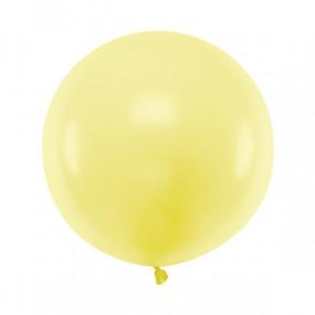 Balão Latex Amarelo Pastel 60cm