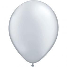 8 Balões Latex Prateados