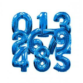 Balões Números Pequenos Azuis