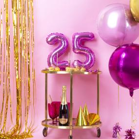 Balões Números Pequenos Rosa