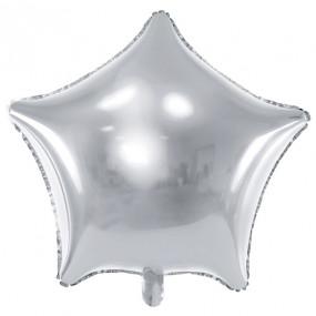 Balão Estrela Prateada 48cm