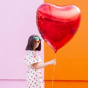 Balão Coração Vermelho 72cm