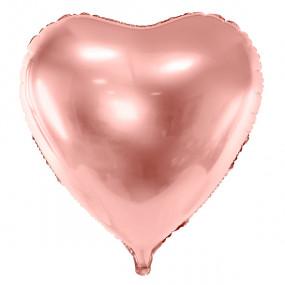 Balão Coração Rosegold Grande 72cm