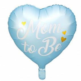 Balão Mom To Be AZUL 35cm