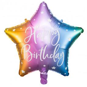 Balão Happy Birthday Colorido 40cm