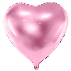 Balão Coração Rosa 45cm