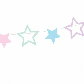 Grinalda Estrelas Pastel