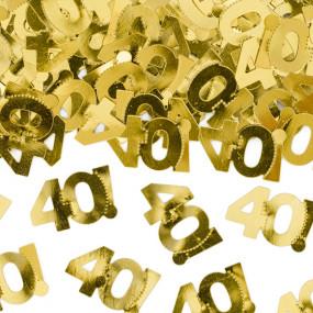Confetis Dourados 40