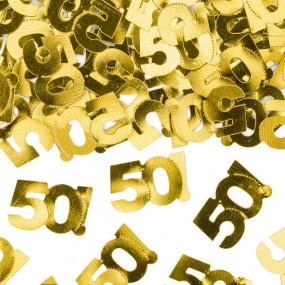 Confetis Dourados 50