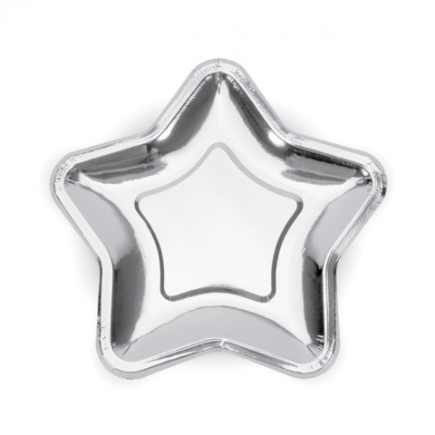 Pratos Estrela Pequena Prateada