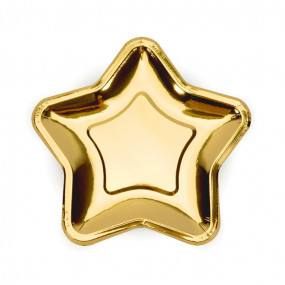 Pratos Pequenos Estrela Dourada