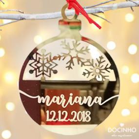 Bola Natal Espelhada / Baça Gravada