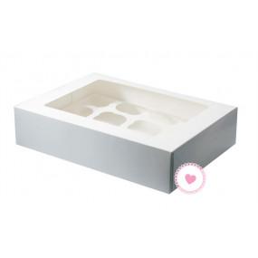 Caixa 12 Cupcakes Branca