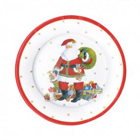 Pratos Natal Santa Claus