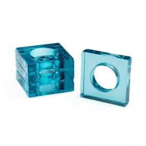 Argolas Guardanapos Acrílico Azul