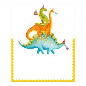 Cartões Marcadores Dinossauros