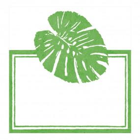 Cartões Marcadores Folhas