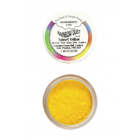 Pó Comestível Amarelo Pôr do Sol