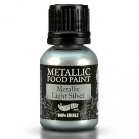 Tinta Comestível Prata Rainbow Dust