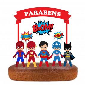 Topo Super Heróis Vermelho