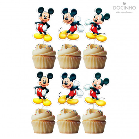 6 Toppers Mickey Inteiro