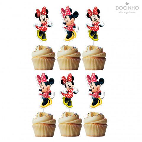 6 Toppers Minnie Vermelha