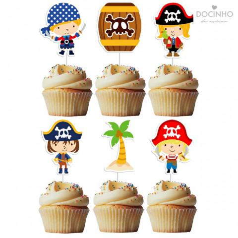 6 Toppers Piratas