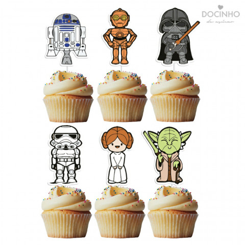 6 Toppers Star Wars