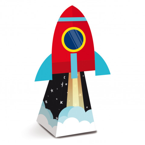 Caixas Foguete Espaço - conj.8